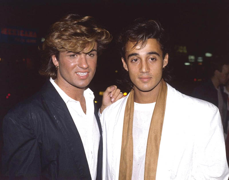 George Michael en Andrew Ridgeley, ca. 1984