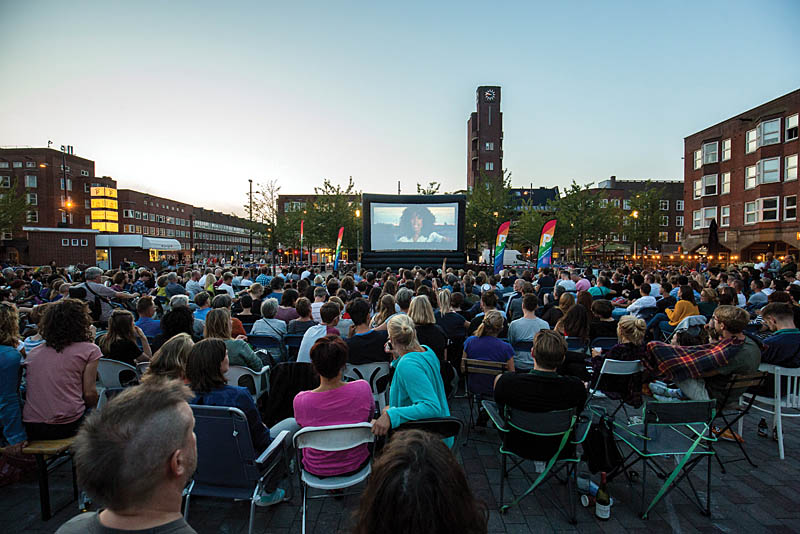 Open Air cinema op het Mercatorplein