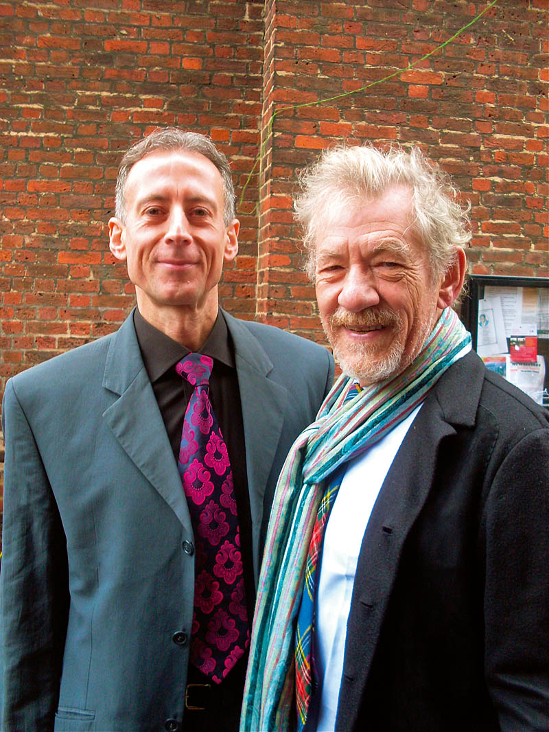 with Ian McKellen