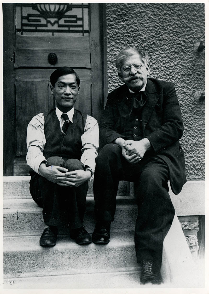 Magnus Hirschfeld (right) and his lover Li Shiu Tong in Nice, ca. 1934