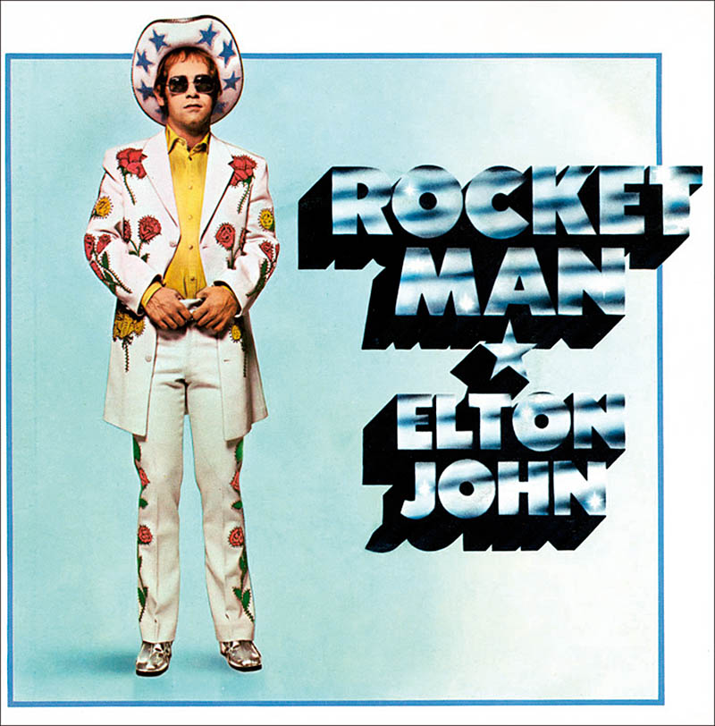 Hoesje van de single Rocket Man (1972)