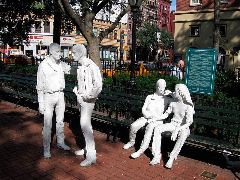 Het gay liberation monument (uit 1980, NY)