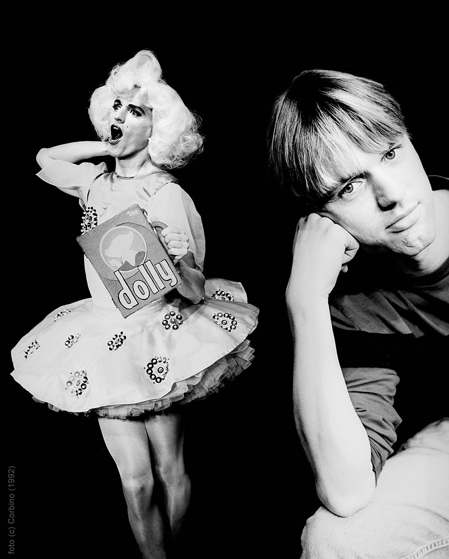 Dolly and alter-ego Ruud, 1992, photo Corbino