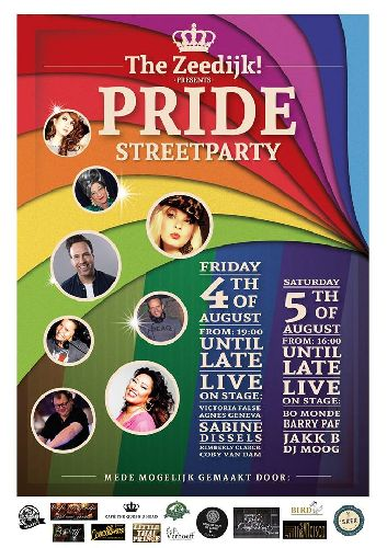 Canal Pride Zeedijk Streetparty, Saturday Aug 05