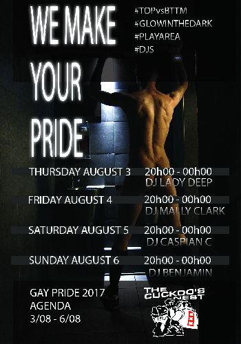 We Make Your Pride, Friday Aug 04