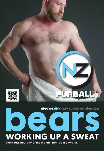 Bears at Sauna Nieuwzijds, Saturday Oct 28