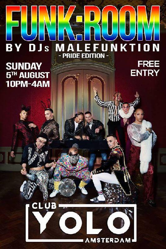 FUNK: ROOM - Pride Edition, Sunday Aug 05