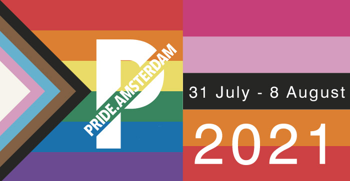 Amsterdam Gay Pride, jul 31- aug 08, 2021